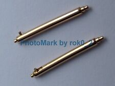 PATEK PHILIPPE 18K, 18ct ROSE GOLD 14mm Pair QUICK RELEASE SPRING BAR PUSH PINS!