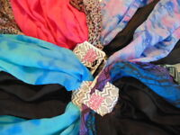 Scarf Scarves Set of 2 Forever Infinity Circle CHOICE Polyester Light Weight T19