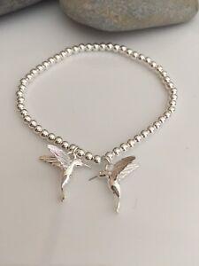Sterling Silver Lovebird Bracelet. Sterling Silver Bird Bracelet. Silver Bird