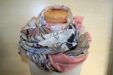 Primark Schal Blumenmuster Grau XXL Schal Pastell Vintage Top