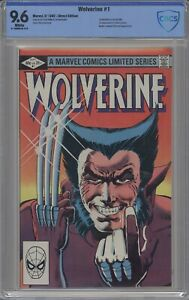 WOLVERINE 1 CBCS / CGC 9.6 WHITE 1982 FRANK MILLER FIRST WOLVERINE IN OWN TITLE