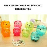 Piggy Bank Money Box Saving Coin Cash Fun Gifts Plastic Pig Safe Clears For Kids