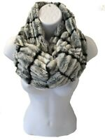 Ladies Women Girl Short Textured Faux Fur GREY Snood Soft Winter Scarf