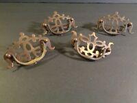 Set 4 Vintage Antique Copper or Brass Cabinet Hardware Handles Pulls J9-24