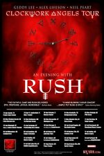Rush 2013  box office CONCERT POSTER World Tour