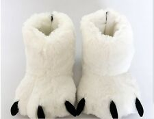 Woman Woman Unisex Fur Paw Claw BOOTS Polar Bear Animal Party Home Slipper Shoes