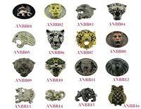 Tattoo Goth Belt Buckle Snake Animal Lion Tiger Leopard Metal Black Panther Logo