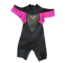Roxy Syncro 2/2mm Kids Purple Black Short Sleeve Springsuit Wetsuit Size 2 YRS