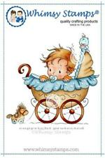 """Stempel """"Wee One"""" Whimsy Stamps, Baby im Kinderwagen, rubber stamp"""