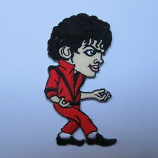 RED DANCE MICHAEL JACKSON KING OF POP EMBROIDERED IRON ON PATCH T-SHIRT JEAN CAP