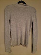 Prologue Grey Ribbed Womens Sweater Medium