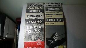 Vintage Bundle of Boy Scout Books 10 Handbooks Merit Badge Books Royal Rangers BSA