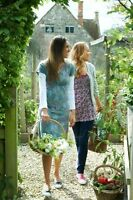 Mistral teal blue jersey 'cow parsley' flower print dress new 8 10 12 rrp £49.99