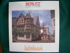 Vintage BERLITZ CASSETTE COURSE BASIC GERMAN Brand New-Complete-30 Lessons +MORE