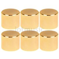 6 pcs 26X21mm Gold Knob Cap  Aluminum  Potentiometer Knobs Cap New