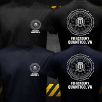 New United States FBI Academy Quantico VA Police T-shirt