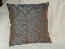 "18"" CUSHION COVER MADE WITH DUNELM FABRIC--BROWN & BLUE"