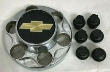Chevy Pickup Truck Suburban 1500 Wheel CHROME Center Hub Cap & 6 Lug Nut Covers