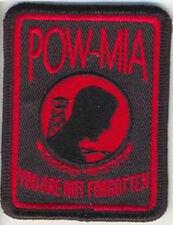 POW-MIA BIKER VEST PATCH BLACK OR RED