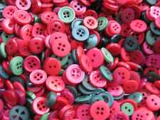 8 mm to 14mm Small Red Greens Baby Kids Dolls Vintage Sewing Buttons 50gm bulk