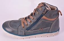 Noel Boys Ventoux Petrol Blue Leather 2 Zips & Lace Boots UK 2.5 EU 35 RRP £60
