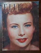►ELLE 113/1948 - YVONNE VISEUX MISS FRANCE 1947 - LOUIS JOUVET - MODE FASHION