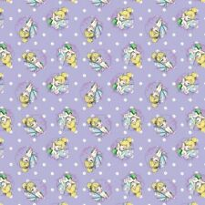 Disney Tinkerbell Toss on Lavender 100% Cotton Licenced Fabric *sold per FQ""