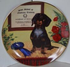 Vintage Dachshunds Wiener Dog Christopher Nick Collector Plate The Graduate