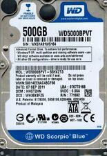 Western Digital WD5000BPVT-55HXZT3 500GB DCM: HHOT2HN