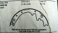 Drum Brake Shoe-AWD Rear OMNIPARTS 13074001