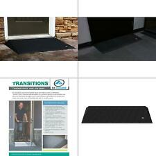 transitions black rubber threshold mat with beveled edges 14 in. l x 40 in.