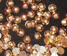 sew on stich on 10 GOLD JEWEL GEM CRYSTAL RHINESTONE bead DANCE costume
