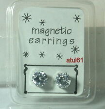 8 Mm Clip on Magnetic CZ Stone Earring Men's/ladies Fashion Accessories