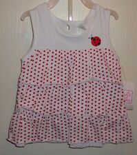 Brand New Swiggles Girl's Lady Bug Dress Top & Shorts Set size 12 months NWT!