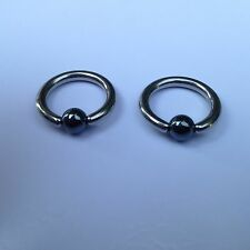 Inch Hematite Ball Captive Bead Ring Lot of 10 Pcs of 16g 1/2