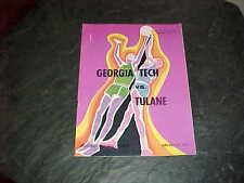 1972 Tulane Green Wave v Georgia Tech Basketball Program 1/20