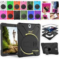"Shockproof Rotating Stand Case Cover For Samsung Galaxy Tablet Tab 9.7"" 10.1"""