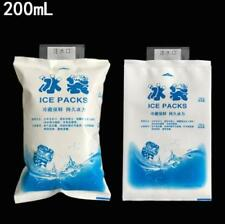2 PACK 200ML Reusable Gel Ice Bags Packs Freeze Pak Picnic Cooler Cold Therapy