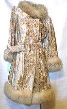 Vintage Women Tisse a Paris por Lilli Ann Paris Dbl Breasted Faux Fur Frock Coat