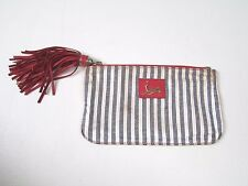 CHRISTIAN LOUBOUTIN SMALL CLUTCH BAG WITH LEATHER TASSLE ZIP
