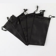 5ct Black MicroFiber Sunglass Eyeglasses Carrying Pouch Case Bag Storage Sleeve