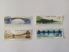 1962 CHINA CINA MNH FULL SET ANCIET CHINESE BRIDGES VERY GOOD STAMPS