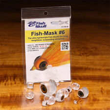 FISH SKULL FISH MASK - Fly Tying Clear Streamer Heads by Flymen - All Sizes NEW!
