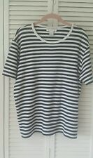 Sport Savvy size 1X 100% cotton black and white striped short sleeve top