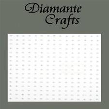 240 X 1 mm bianco perla Autoadesivo strass artigianale abbellimento GEMS