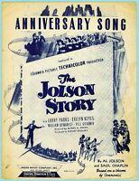 ANNIVERSARY SONG from THE JOLSON STORY by AL JOLSON & SAUL CHAPLIN (1946 MOVIE)