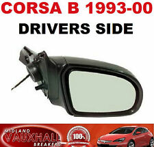 VAUXHALL CORSA B 1993-00 MANUAL LEVER BLACK WING MIRROR RH NEW DRIVERS OFF SIDE