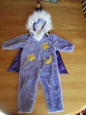 Halloween Boys Celebration White Haired Merlin WIZARD Zip Body Costume Medium