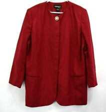 Adolfo Womens Size 20 Vintage Pearl Button Blazer Formal Wear Suit Jacket Red