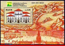 2200 BRAZIL 1989 STAMP DAY, IMPERIAL CASTLE OF RIO, BRASILIANA 89, MI# B79, MNH